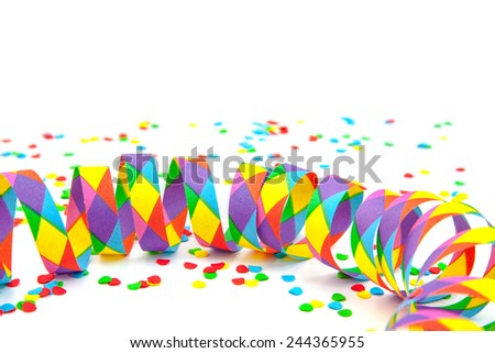 Party decoration. All on white background. - stock photo