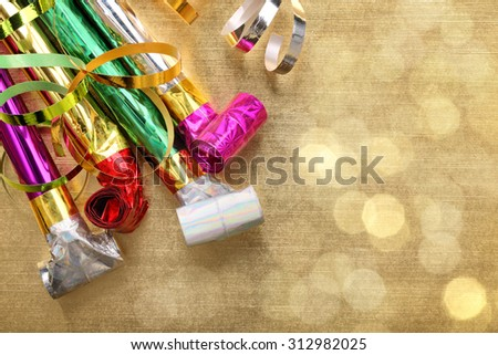 Party decoration for New Year's holiday - stock photo
