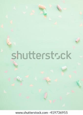 Party decoration of pastel theme background - stock photo