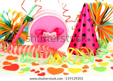 Party decorations close up