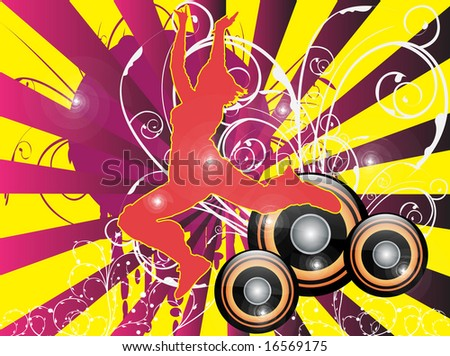 party design- musical elements vector illustration