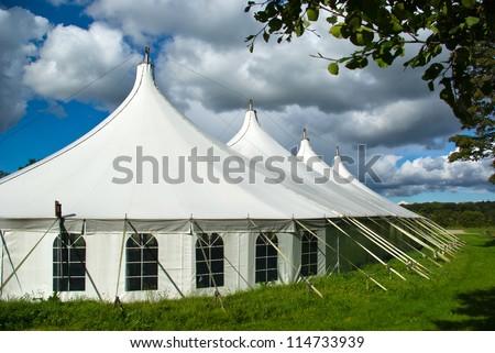 Party events wedding celebration banquet tent - stock photo