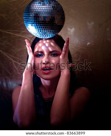Party Female Disco - stock photo