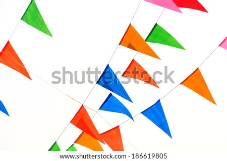 Party Flags  - stock photo
