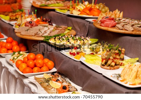 Party food - stock photo