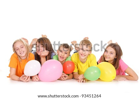 party for children on a white background