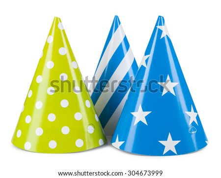 party hat isolated on a white background. - stock photo