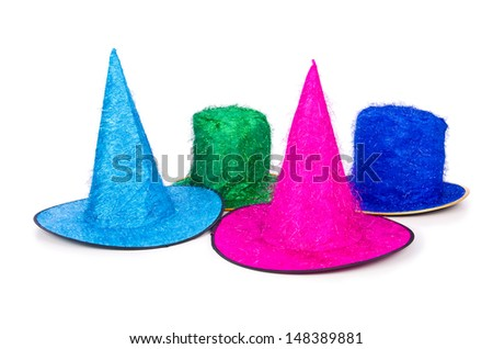 Party hat isolated on white background - stock photo