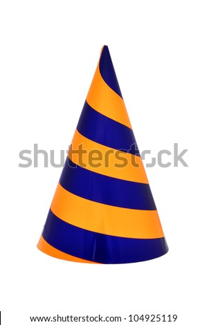 Party hat on a white background - stock photo