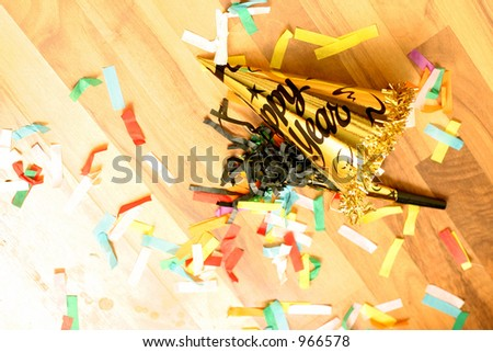 Party Hat on Floor - stock photo