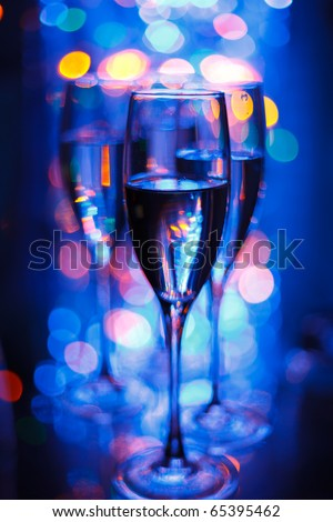 party in the night club - stock photo