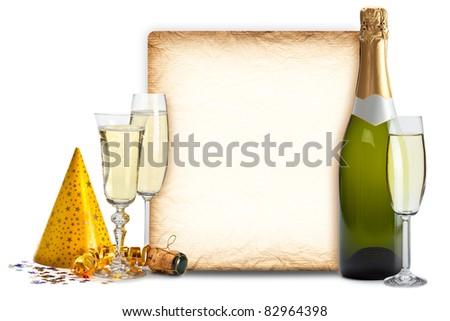 Party invitation - stock photo
