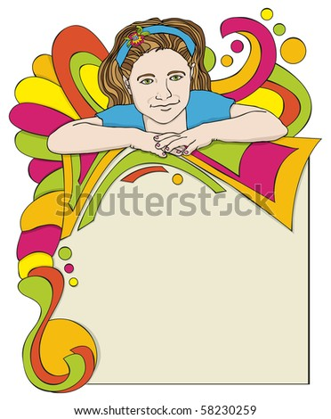 Party Invitation or Poster  - Raster version - stock photo