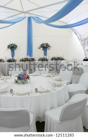 Party marquee tent - stock photo