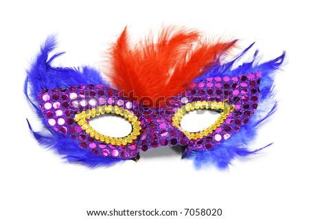 Party mask on white background - stock photo