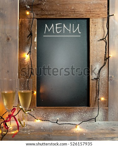 Party menu background