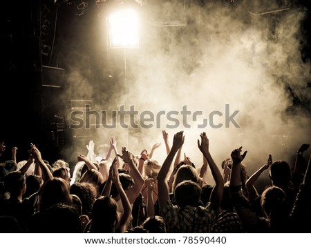Party people at a concert - stock photo