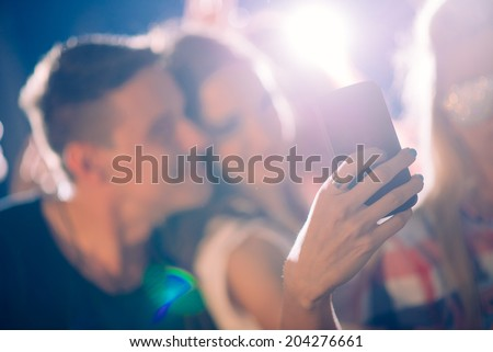 Party people taking selfie  - stock photo