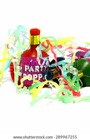 Party popper streamer - stock photo