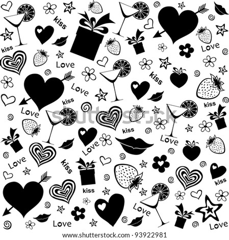 Party seamless pattern.  Illustration
