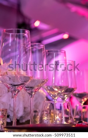 Party Setting with Colorful Bokeh Background