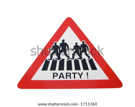 party sign - stock photo