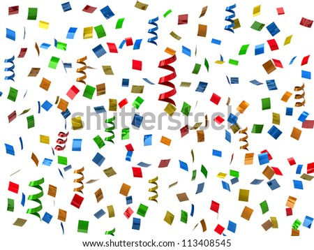Party streamers. Confetti - stock photo
