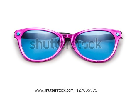 Party sunglasses isolated on the white - stock photo