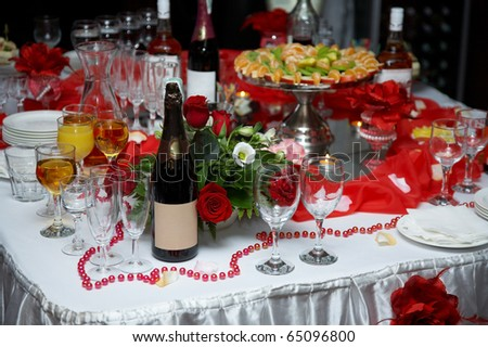 Party table - stock photo