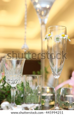 party table setting  - stock photo