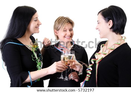 party trio 2 - stock photo