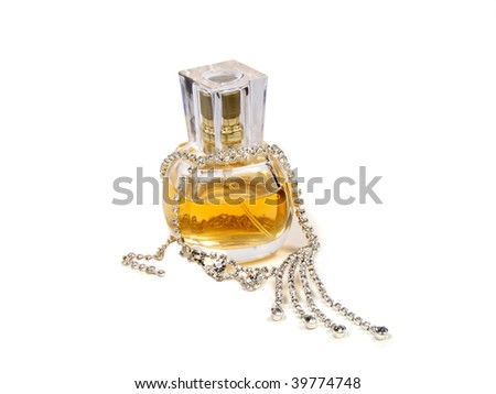 Parvyum in a necklace on a beloi background - stock photo