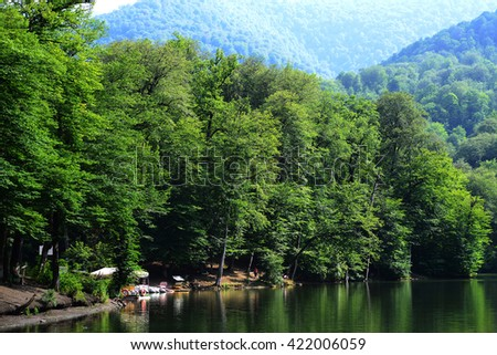 Parz Lich (Clear Lake) in Dilijan, Armenia - stock photo