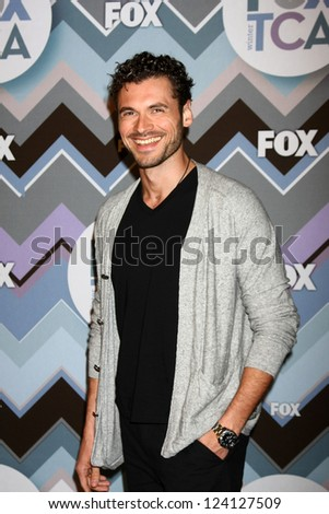 PASADENA, CA - JAN 8:  Adan Canto attends the FOX TV 2013 TCA Winter Press Tour at Langham Huntington Hotel on January 8, 2013 in Pasadena, CA - stock photo