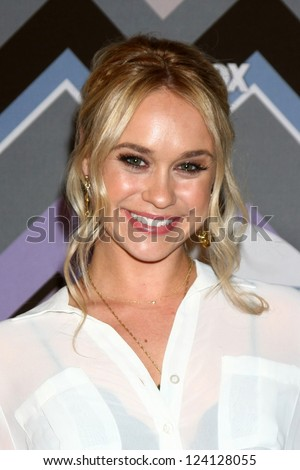 PASADENA, CA - JAN 8:  Becca Tobin attends the FOX TV 2013 TCA Winter Press Tour at Langham Huntington Hotel on January 8, 2013 in Pasadena, CA - stock photo