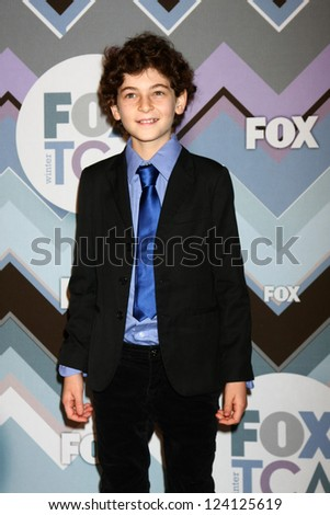 PASADENA, CA - JAN 8:  David Mazouz attends the FOX TV 2013 TCA Winter Press Tour at Langham Huntington Hotel on January 8, 2013 in Pasadena, CA - stock photo