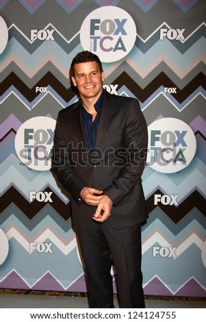 PASADENA, CA - JAN 8:  Dvid  Boreanaz attends the FOX TV 2013 TCA Winter Press Tour at Langham Huntington Hotel on January 8, 2013 in Pasadena, CA - stock photo