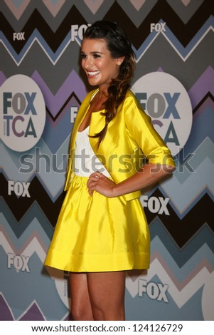 PASADENA, CA- JAN 8:  Lea Michele attends the FOX TV 2013 TCA Winter Press Tour at Langham Huntington Hotel on January 8, 2013 in Pasadena, CA - stock photo