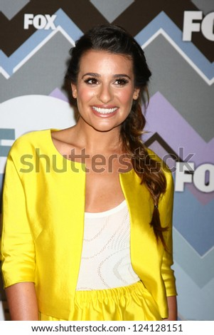 PASADENA, CA - JAN 8:  Lea Michele attends the FOX TV 2013 TCA Winter Press Tour at Langham Huntington Hotel on January 8, 2013 in Pasadena, CA - stock photo