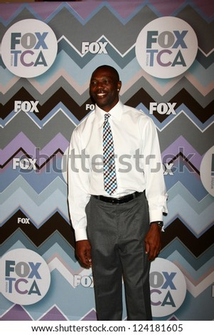 PASADENA, CA - JAN 8:  Terrell Owens attends the FOX TV 2013 TCA Winter Press Tour at Langham Huntington Hotel on January 8, 2013 in Pasadena, CA - stock photo