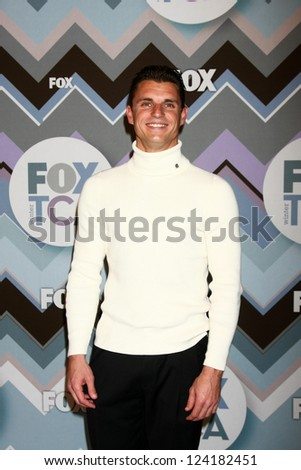 PASADENA, CA - JAN 8:  Troy Dumais attends the FOX TV 2013 TCA Winter Press Tour at Langham Huntington Hotel on January 8, 2013 in Pasadena, CA - stock photo