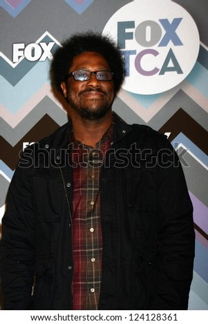 PASADENA, CA - JAN 8:  W Kamau Bell attends the FOX TV 2013 TCA Winter Press Tour at Langham Huntington Hotel on January 8, 2013 in Pasadena, CA - stock photo