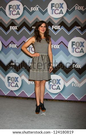 PASADENA, CA  - JAN 8:  Zoe Jarman attends the FOX TV 2013 TCA Winter Press Tour at Langham Huntington Hotel on January 8, 2013 in Pasadena, CA - stock photo