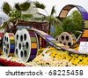 "PASADENA, CA - JANUARY 1: The City of Los Angeles designed a float based on ""Cirque du Soleil's"" new show ""IRIS"" at the 122nd Tournament of Roses Parade on January 1, 2011 in Pasadena, California. - stock photo"
