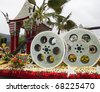 PASADENA, CA - JANUARY 1: The City of Los Angeles designed a float based on Cirque du Soleil's new show IRIS at the 122nd Tournament of Roses Parade on January 1, 2011 in Pasadena, California. - stock photo