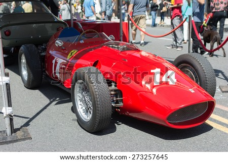 Pasadena, CA - USA - April 26, 2015: Ferrari 735 S car on display at the 8th Annual Ferrari Concorso car event