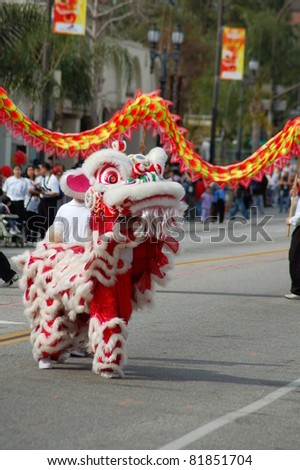 PASADENA, CA/USA - FEBRUARY 18: Toy Dragons at Chinese Lunar New Year Parade on February 18 2007 in Pasadena California