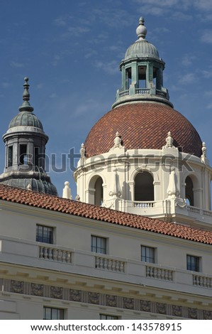 Pasadena City Hall.  Pasadena, California, USA - stock photo