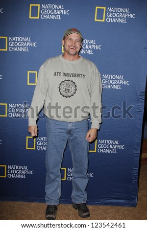 PASADENA - JAN 3: George Wyant of the show 'Diggers' at the National Geographic Channels TCA party on January 3, 2013 at the Langham Hotel in Pasadena, California - stock photo