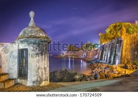 Paseo Del Morro in San Juan, Puerto Rico. - stock photo